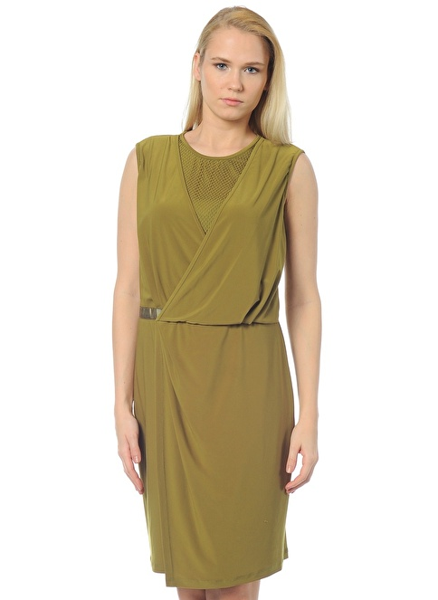 Cotton Bar Elbise Yeşil